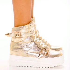She's a Rockstar Sneaker - Gold